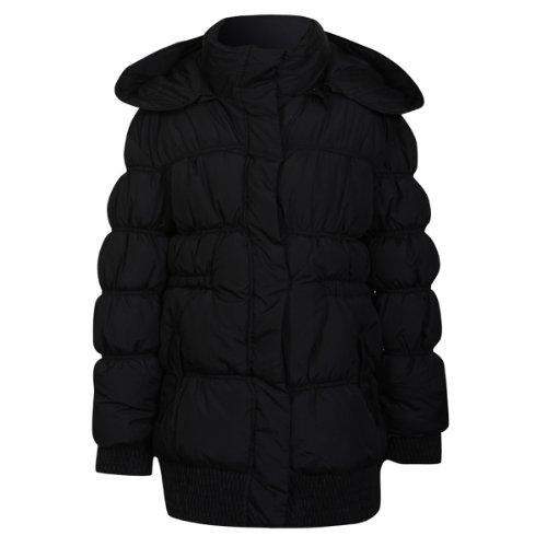 Minx Girls Big Rib Jacket - Black