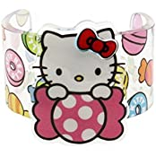 Hello Kitty Sanrio Hard Sturdy Plastic Girl Bracelet Cuff Candy Of The World Japan Edition