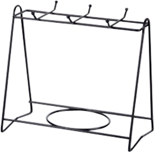 Stylish Cup & Plate Storage Dish Rack Holder Display Stand (Four Cups & Four Plates, Black) (Restaurant Menu Templates compare prices)