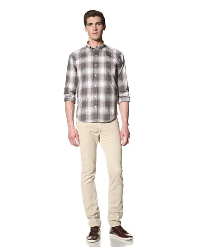 Bespoken Men's Button-Down Collar Plaid Shirt