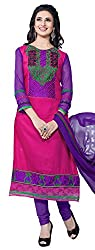 atisundar ravishing Pink And Purple Straight Cut with Embroidery and Digital Print- 6298_10_3505