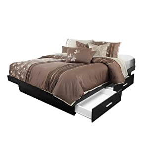 King Platform Bed with 4 Drawers