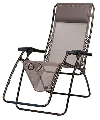 LFM1226-6456 Relax-Liegestuhl, klappbar und verstellbar, RSXA, Ecorce, hellbraun