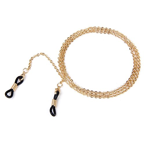 Tinksky 2mm Eyeglasses Chain Reading Glasses Eyewear Spectacles Chain Neck Cord (Rose Gold)
