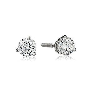 IGI Certified Platinum 3-Prong Round Diamond Stud Earrings (3/4 cttw, G-H Color, VS1-VS2 Clarity)