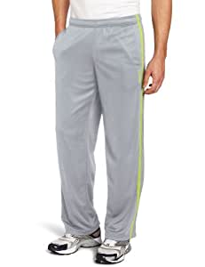 Reebok Men's Workout Ready Mesh Knit Training Oh Pant, Flat Grey/Goal Green/Charged Green, Small