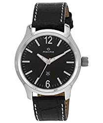 Maxima Attivo Analog Black Dial Mens Watch - 24057LMGI