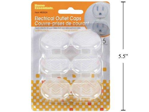 6-pc Semi-Transparent Electrical Outlet Caps