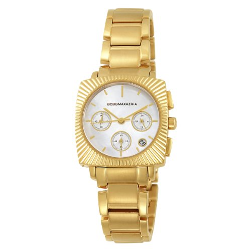 BCBGMAXAZRIA Ladies Watch BG8228 with Chronograph Gold Plated Stainless Steel Bracelet