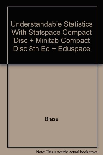 Understandable Statistics With Statspace Compact Disc + Minitab Compact Disc 8th Ed + Eduspace