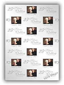 Personalised Wedding Anniversary Gift Wrapping Paper : Personalised Wedding Anniversary Gift Wrapping Paper - 570mm 430mm ...