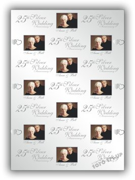 Personalised Wedding Anniversary Gift Wrapping Paper - 570mm x 430mm - 22 1/2