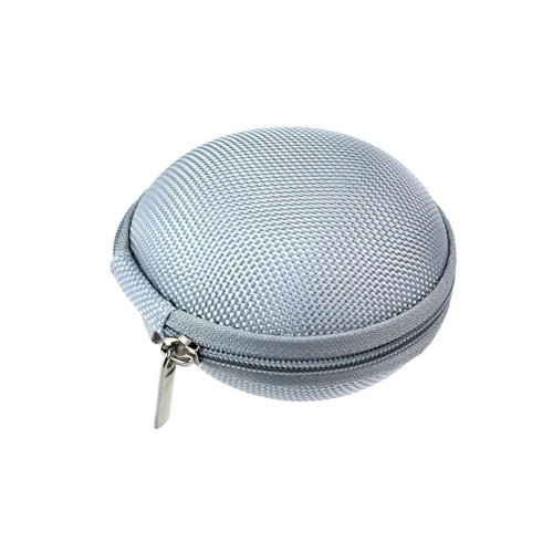 Jim Fashion Round Headset Headphone Earphone Collection Case Bag Box Carrying Pouch (Grey)