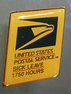 United States Postal Service (USPS) - 1750 Hours Sick Leave Award Pin