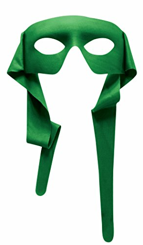 Mens Green Masked Man With Ties Venetian Mardi Gras Mask Costume Accessory