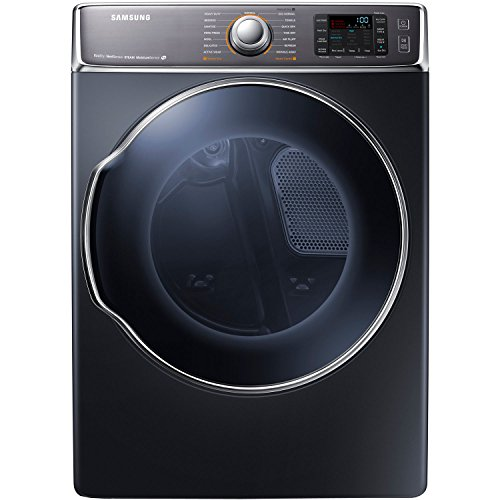 Samsung DV56H9100EG 9.5 Cu. Ft. Front-Load Electric Steam Dryer with Dual Heaters, Onyx