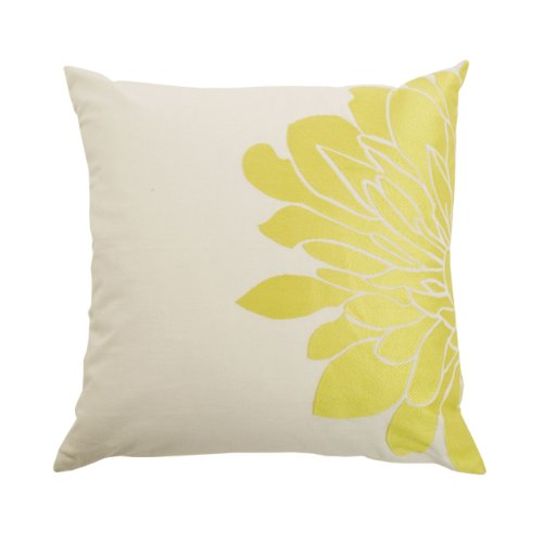 Blissliving Home Gemini Pillow, Citron, 18 by 18 Inches