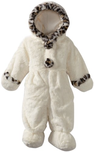 Review Rothschild Baby Girls Newborn Infant Leopard Trim Kitten Pram - (Vanilla, 6-9 Months)