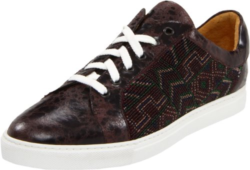 Donald J Pliner Men's Sigrid Lace-Up Sneaker,Wine,10.5 M US