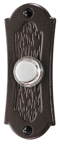 Nutone Pb27Lbr Wired Lighted Door Chime Push Button, Oil-Rubbed Bronze Finish front-625940