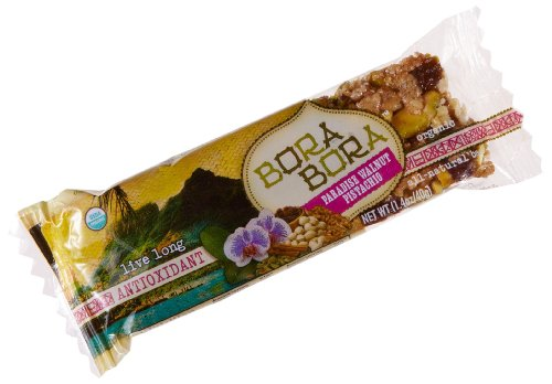 Bora Bora Paradise Walnut Pistachio Antioxidant Organic Bar, 1.4-Ounce Bars (Pack of 12)