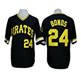 Barry Bonds Jersey Pittsburgh Pirates Men's Throwback Baseball Embroidery and Stitched Black XL