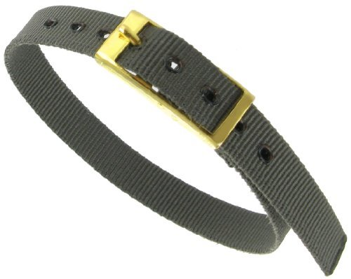 10mm Milano Slide Through Sports Wrap Nylon Textile Solid Grey Watch Band Strap