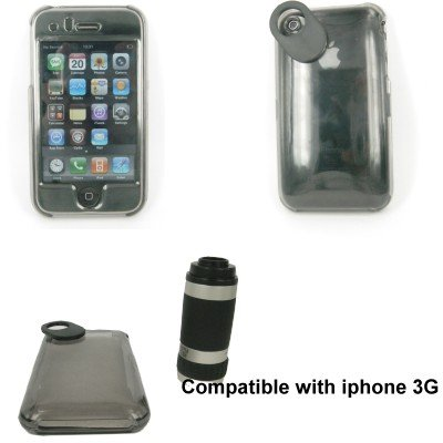 SNY iPhone 3G Camera Telescope Lens with Crystal Clear Case at Amazon.com