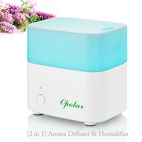 OPOLAR AD01 Aroma Diffuser with Led Lights, Ultrasonic Cool Mist, 120ml