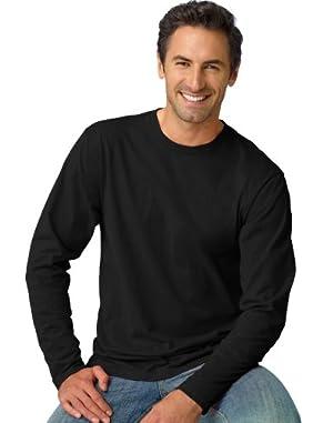 Hanes 4.5 oz.; 100% Ringspun Cotton nano-T� Long-Sleeve T-Shirt - BLACK - M