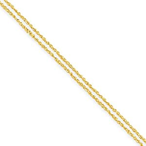 14K Yellow Gold Multi-Strand Ropa Chain Necklace - Fine Jewelry Gift