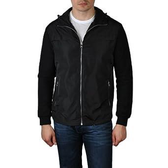 Prada Black Zip Front Hooded Jacket-52/XL