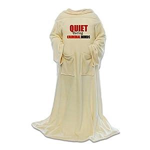 CafePress Quiet During Criminal Minds Blanket Wrap