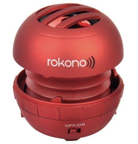 Rokono - Mini altoparlanti per iPhone, iPad, iPod, lettori Mp3 e laptop, rosso