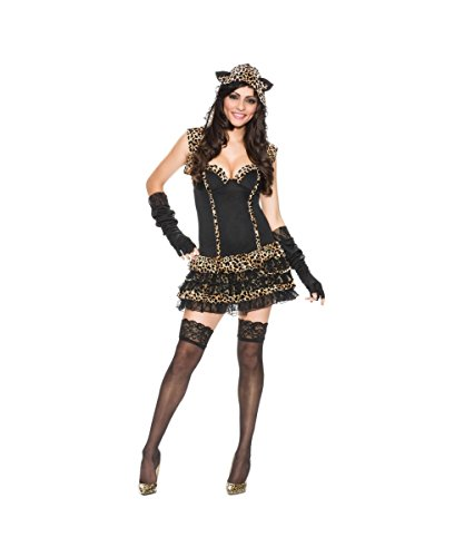 Me?oww Leopard Print Cat Womens Sexy Halloween Hooded Dress Costume