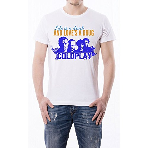 CiaoCompra - T-Shirt Coldplay Life is a drink - L