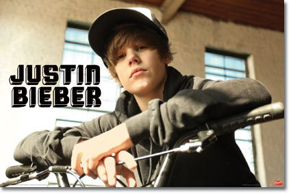 Teen Canadian pop singer Justin Bieber likes to ride around on a BMX bike.