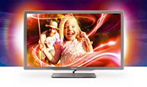 Philips 32PFL7406K/02 81 cm (32 Zoll) Ambilight LED-Backlight-Fernseher  (Full-HD, 400 Hz PMR, DVB-T/-C/-S2, Smart TV) silbergrau