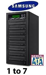 BestDuplicator SATA DVD Duplicator Built-in Samsung Burner (1 to 7 Target) CD/DVD Professional Duplication Disc Copier