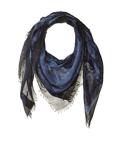 Gucci Men's Patterned Scarf, Periwinkle/Blue