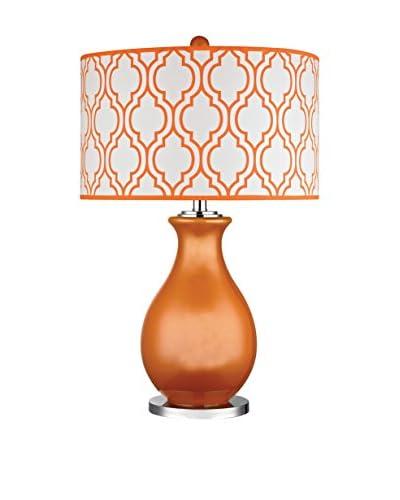 Artistic Lighting Glass Table Lamp, Tangerine Orange