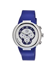 Philip Stein Men's 32-AN-RN Quartz Stainless Steel Blue Dial Watch