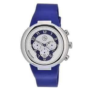 Philip Stein 32-AN-RN - Reloj analógico de cuarzo unisex, correa de silicona color azul