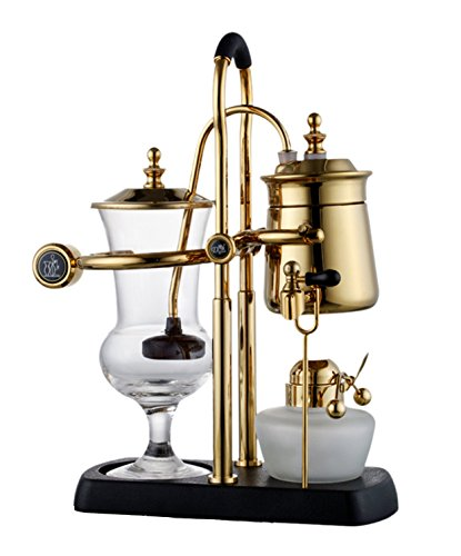 BESTSELLER UK #1 Diguo Belgian Belgium Luxury Royal Family Balance Syphon Coffee Maker Gold Color Top Grade Best Buy Price Review uk