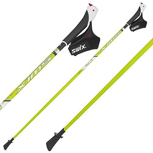 swix-nordic-walking-bastoni-ct4-just-go-punta-130-cm-clic-passante-in-poliuretano-verde