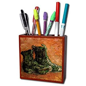A Pair of Shoes By Vincent Van Gogh Pencil Holder