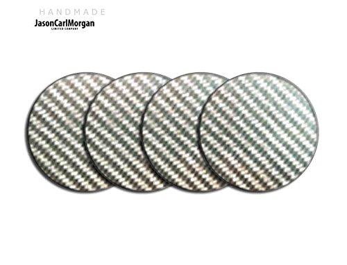 Telecommande JCM Jante en alliage Bouchon Badges pour SKODA HONDA MG (CLR 57 mm), Argent Carbone
