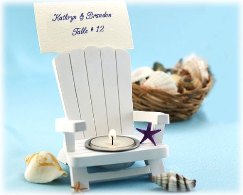 Adirondack Chair Tealight and Place Card Holder (Set of 4) - Baby Shower Gifts & Wedding Favors