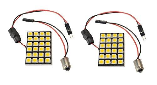 2 X N.R.G 53 57 363 Ba9S Base 24 Led Directional Panel Light Bulb 10-30V 12V / 24V 360 Lumens - Cool White