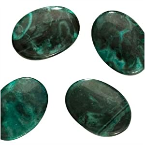 Green Malachite Jasper (Dyed) Focal Oval Beads 13X18mm (12)